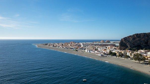 Calahonda, Andalusia, Spain, Sea, Beach, Sun, Blue