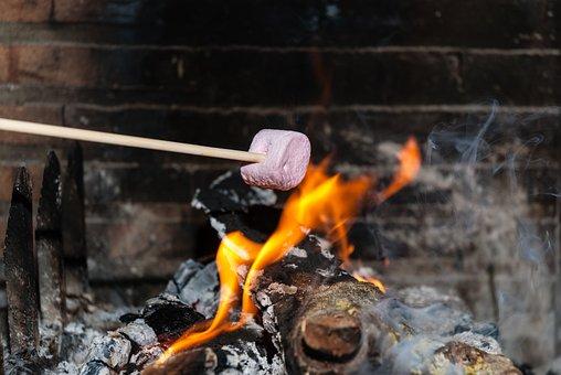 Flame, Heat, Chocolate Yule Log, Burn, Smoke