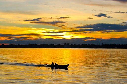 Sunset, Dawn, Water, Dusk, Reflection, Evening, Lake