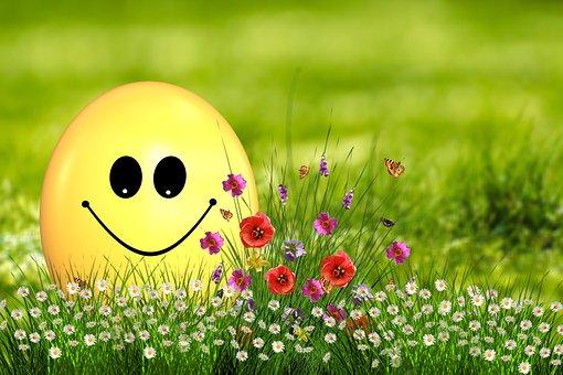 Easter, Egg, Easter Egg, Smilie, Smile, Joy, Flowers