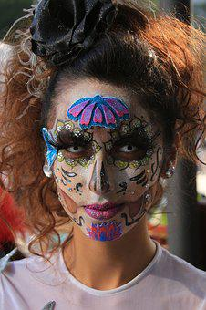 Portrait, Fashion, People, Face, Day Of The Dead