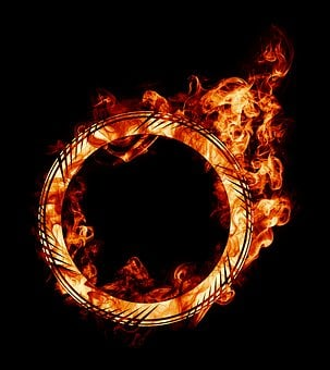 Burning, Fire, Ring, Firering, Circle, Round, Circular