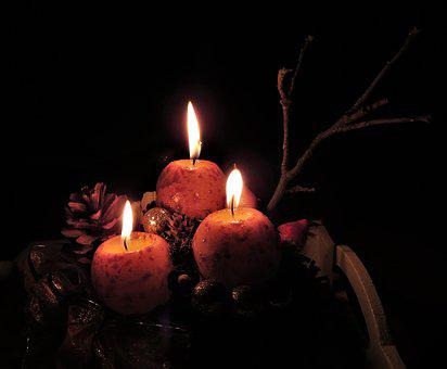 Advent, Holiday, Candle, Candlelight, Flame, Burnt, Wax
