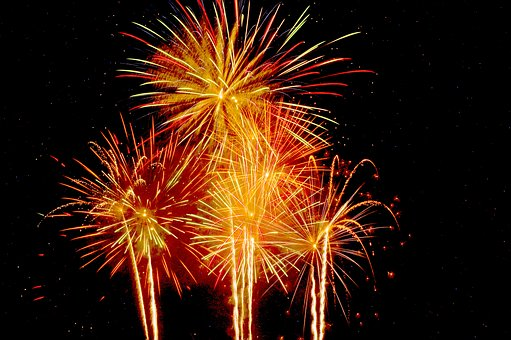 Fireworks, Flame, Celebration, Festival, Christmas