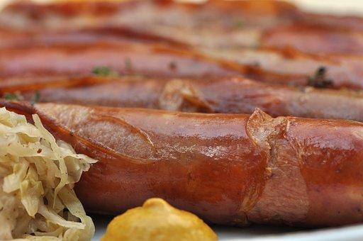 Meat, Food, Pork, Sausage, Barbecue, German