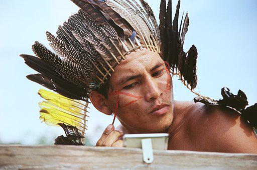 The Kaxinawá, Indigenous, Man, Painting, Vanity, Acre