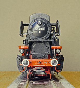 Steam Locomotive, Model, Scale H0, Br 50-40