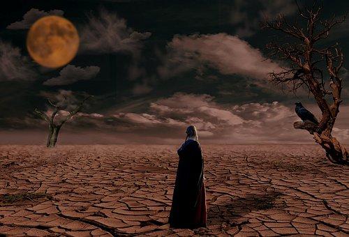 Desert, Dry, Nature, Evening, Landscape, Sky, Drought