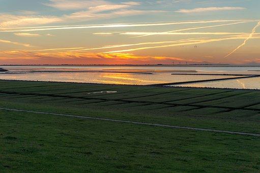 Nature, Panorama, Landscape, Sunset, Sky, North Beach