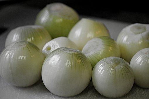 Onions, Peeled, Food, Vegetables, Healthy, Eat