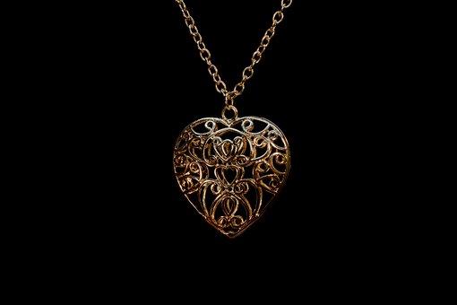 Pendant, Ornament, Suspension, Golden, Jewelry