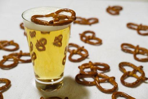 Pretzel, Pretzels, Prezel, Lye Pretzel, Beer, Drink