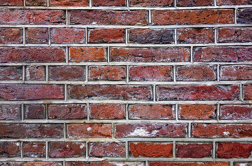Brick Wall, Wall, Brick, Red Brick Wall, Masonry