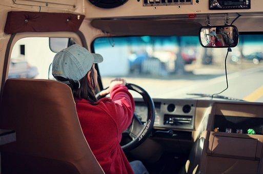 Bus Driver, Bus, School, Car, Transportation, Cap
