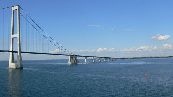 Sky, Travel, Sea, Suspension Bridge, Architecture