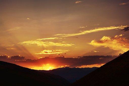 Sunset, Dawn, Panoramic, Solar, Sky, Turkey, Nature