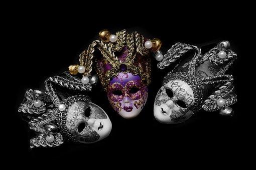 Mask, Carnival, Venice, Mysterious, Close, Romance