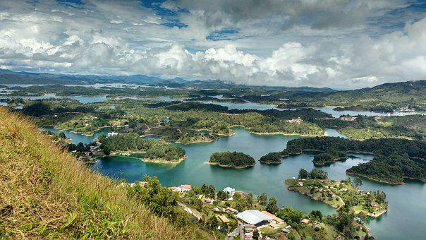 Water, Nature, Panoramic, Landscape, Travel, Guatapé