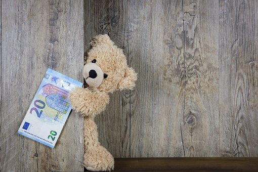 Money, Euro, 20 Euro, 20, Banknote, Cash, Bear