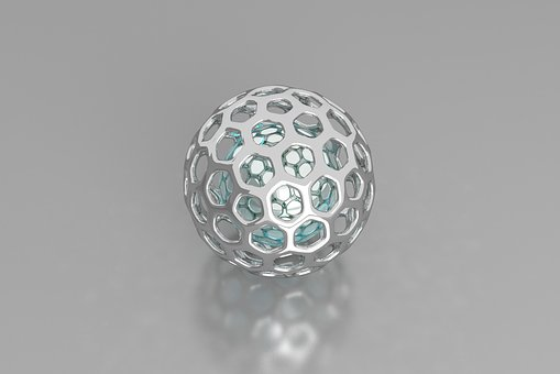 3d Sphere, Aluminum, Metal, Bright