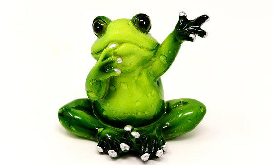 Frog, Wave, Figure, Funny, Cute, Farewell, Welcome