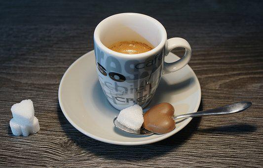 Espresso, Coffee, Hot, Saucer, Table, Spoon, Caffeine