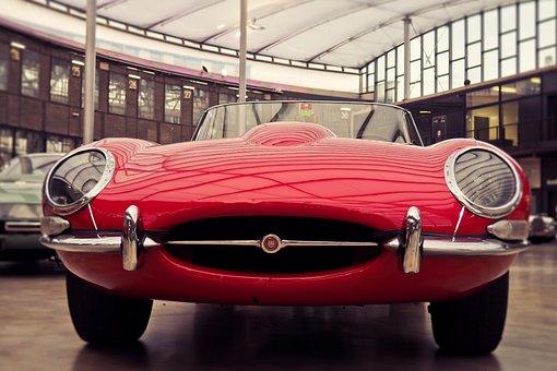 Auto, Vehicle, Jaguar, E Type, Exhibition, Luxury
