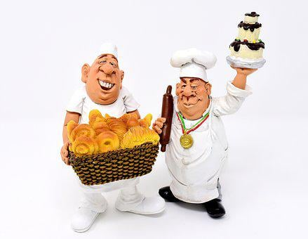 Baker, Pastry Chef, Figures, Funny, Cute, Cake
