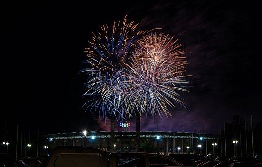 Festival, Fireworks, Light, Celebration, Pyronale