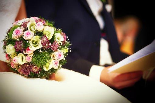 Wedding, Bride And Groom, Flower, Groom, Celebration