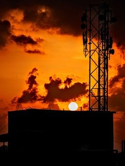 Industry, Energy, Silhouette, Pollution, Fuel, Tower