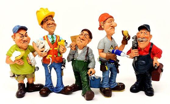 Craftsmen, Site, Workers, Force, Figures, Funny, Diy