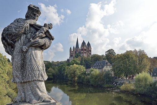 Germany, Limburg, Nepomuk, Lahn, Travel, Architecture