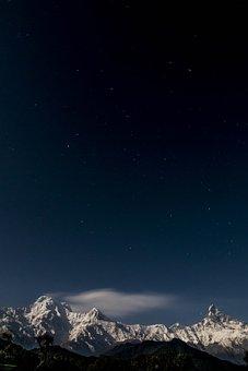 Snow, Landscape, Himalaya, Annapurna