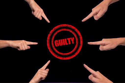 Guilty, Finger, Suggest, Interpretation