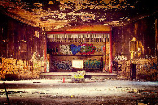 Theater, Hall, Lost Places, Abandoned Places, Ballroom