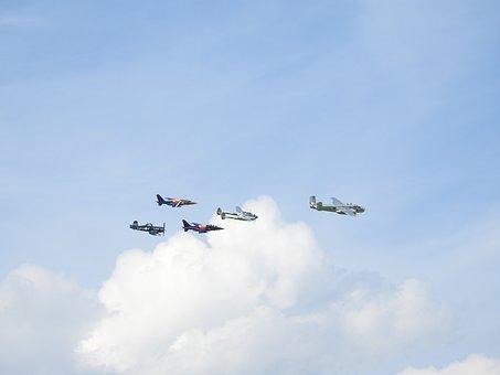 Aircraft, Military, Air, Flight, Formation, Air Force