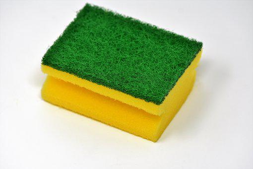 Sponge, Cleaning Sponge, Clean, Rinse, Scrub