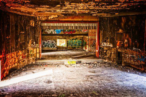 Cinema, Theater, Lost Places, Abandoned Places, Stage