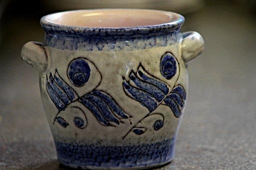 Pot, Stoneware, Ceramic, Potters, Decoration, Vessel