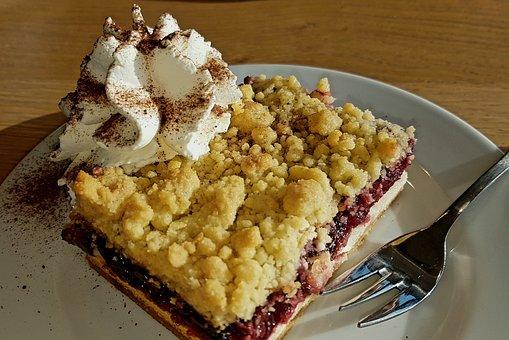 Cake, Food, Dessert, Pastries, Streusel Cake, Cream