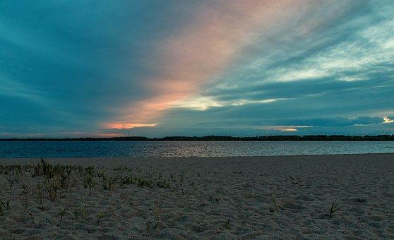 Sunset, Nature, Waters, Panorama, Dawn, Sea, Sky