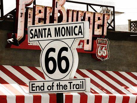 Transport System, Road, Shield, Usa, Route 66