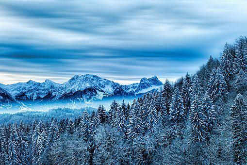 Snow, Winter, Nature, Cold, Mountain, Allgäu, Alpine