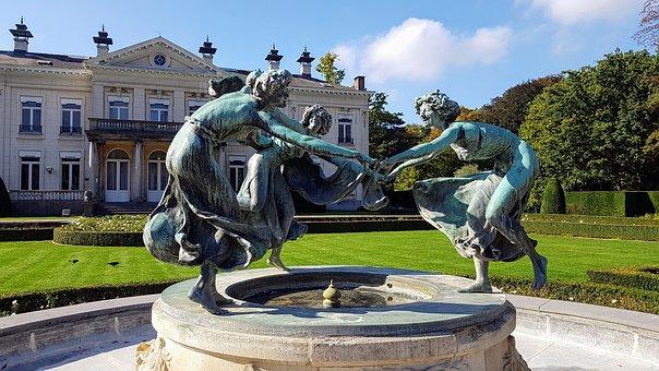 Fountain, Sculpture, Architecture, Statue, City