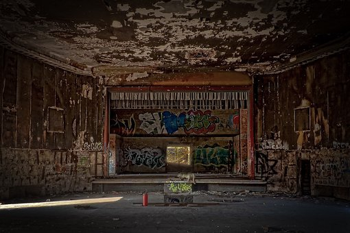 Lost Places, Building, Destroyed, Cinema, Theater