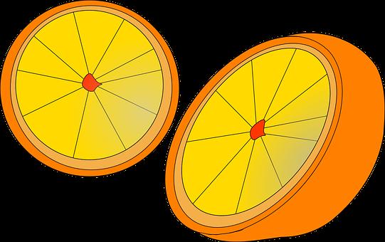 Orange, Fruit, Plant, Citrus, Halves, Fresh, Healthy