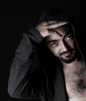Single, Portrait, Adult, Male, Handsome, Dark, Fashion