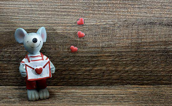 Mouse, Figure, Love Letter, Valentine, Valentine's Day