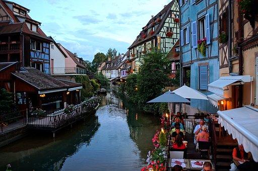 Colmar, Fishermen's Quarter, Petite Venise, Restaurant